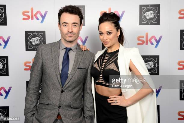 Joe McFadden and Katya Jones attend the TRIC Awards 2018 held at The Grosvenor House Hotel on March 13 2018 in London England