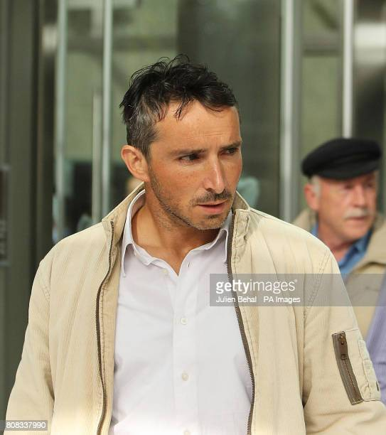 Joe McNamara originally from Achill Island Co Mayo leaves Dublin District Court after he was charged with one count of criminal damage in connection...