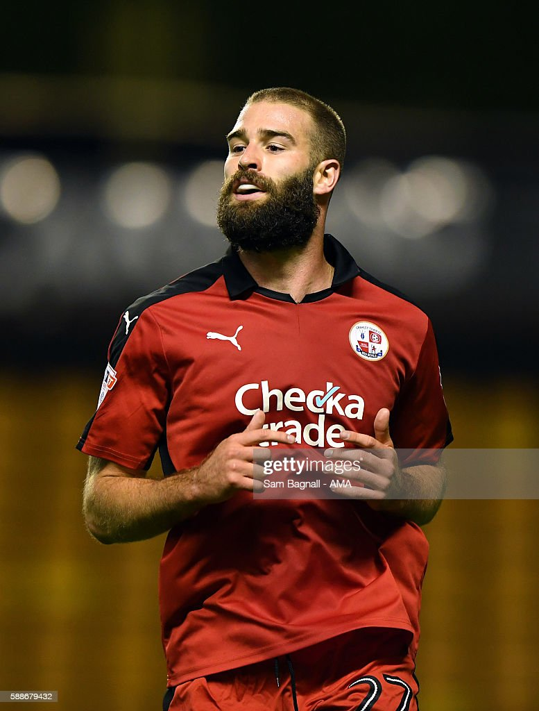 Joe McNerney of Crawley Town during the EFL Cup match between Wolverhampton Wanderers and Crawley Town at Molineux on August 8, 2016 in Wolverhampton, England.