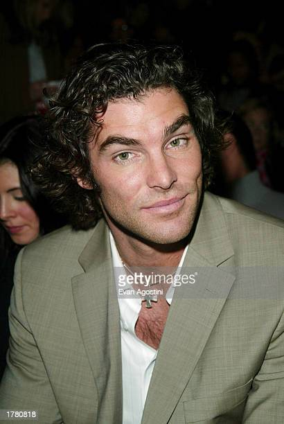 Joe Millionaire Evan Marriott attends the Tommy Hilfiger Fall/Winter 2003 Collection fashion show at the Pavilion in Bryant Park during MercedesBenz...