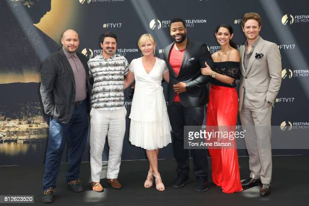 Joe Minoso Yuri Sardarov Kelli Giddish LaRoyce Hawkins Miranda Rae Mayo and Nick Gehlfuss attend photocall for 'Dick Wolf Series' on June 17 2017 at...