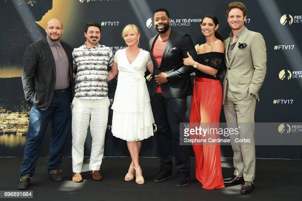 Joe MinosoYuri SardarovKelli GiddishLaRoyce HawkinsMiranda Rae Mayo and Nick Gehlfuss pose for a Photocall during the 57th Monte Carlo TV Festival...