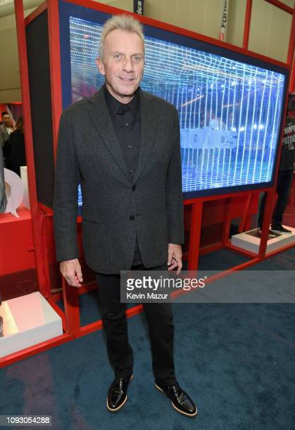 Joe Montana attends Fanatics Super Bowl Party at College Football Hall of Fame on February 2 2019 in Atlanta Georgia