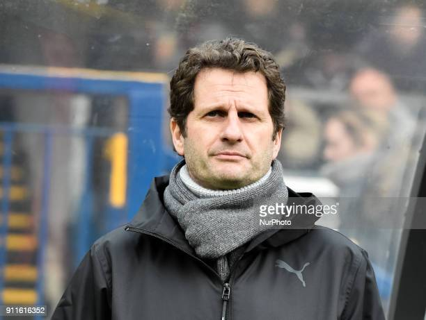 Joe Montemurro Manager of Arsenal Ladie during Women's Super League 1 match between Reading FC Women against Arsenal at Wycombe Wanderers FC on 28...