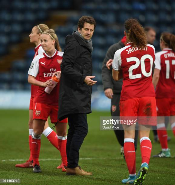 Joe Montemurro the Arsenal Womens Manager after the match between Reading FC Women and Arsenal Women at Adams Park on January 28 2018 in High Wycombe...