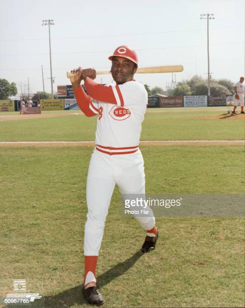 Joe Morgan of the Cincinnati Reds poses for an action portrait Morgan played for the Reds from 19721979