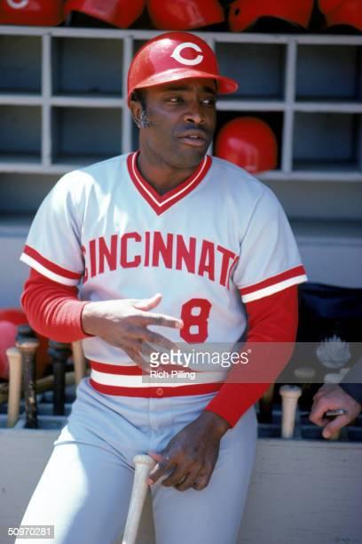 Joe Morgan of the Cincinnati Reds talks in the dugout during the 1978 season.