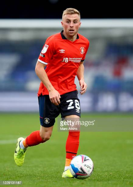 Joe Morrell of Luton Town during the Sky Bet Championship match between Luton Town and Stoke City at Kenilworth Road on October 17, 2020 in Luton,...