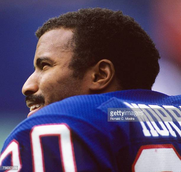 Joe Morris of the New York Giants during a game against the Denver Broncos on November 23 1986 in East Rutherford New Jersey