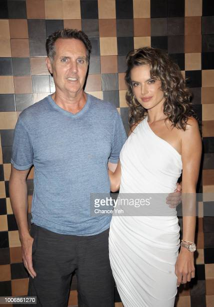 Joe Morrissey and Alessandra Ambrosio attend HQ2 Beachclub at Ocean Resort Casino on July 28 2018 in Atlantic City New Jersey