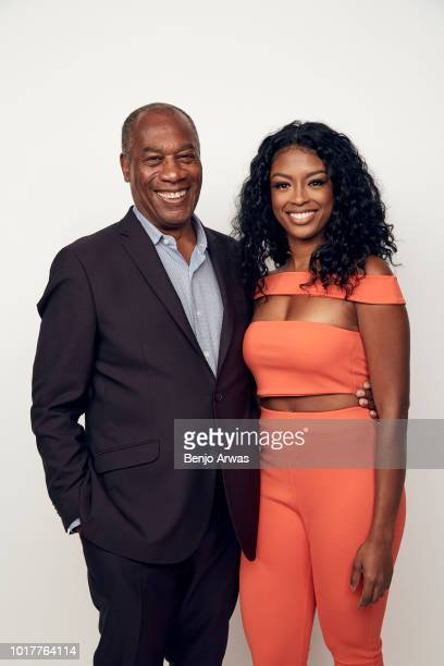 Joe Morton and Javicia Leslie of CBS's 'God Friended Me' pose for a portrait during the 2018 Summer Television Critics Association Press Tour at The...