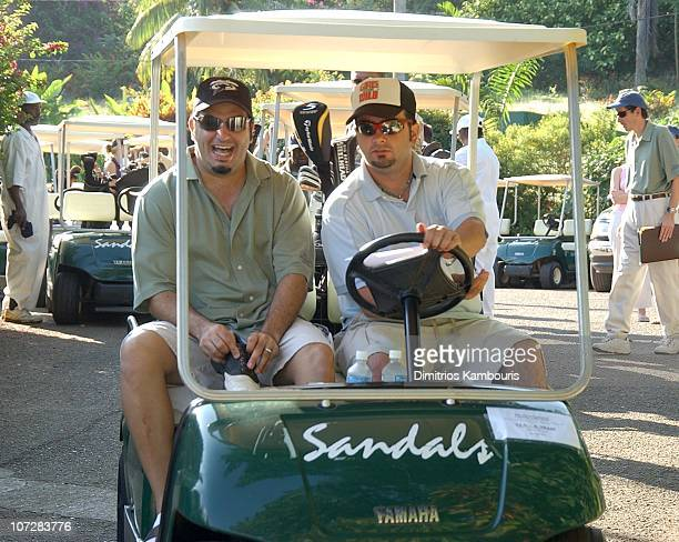 Joe Mulvihill and Chris Kirkpatrick during 2nd Annual Royal Plantation Resort Celebrity Golf Classic to benefit St Jude Children's Research...