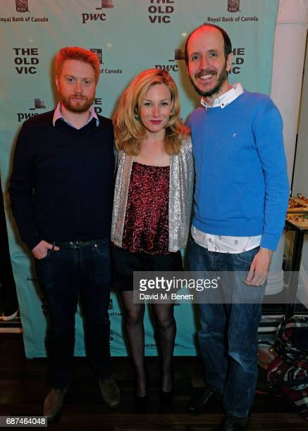 Joe Murphy Nancy Carroll and Jack Thorne attend the press night after party for Woyzeck at The Old Vic Theatre on May 23 2017 in London England