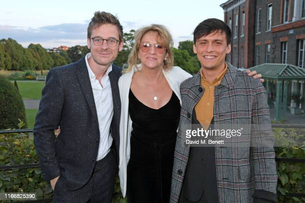 Joe Murphy Sonia Friedman and Luke Thallon attend the ATG Summer Party at Kensington Palace Gardens in celebration of Sir Ian McKellen on September 8...