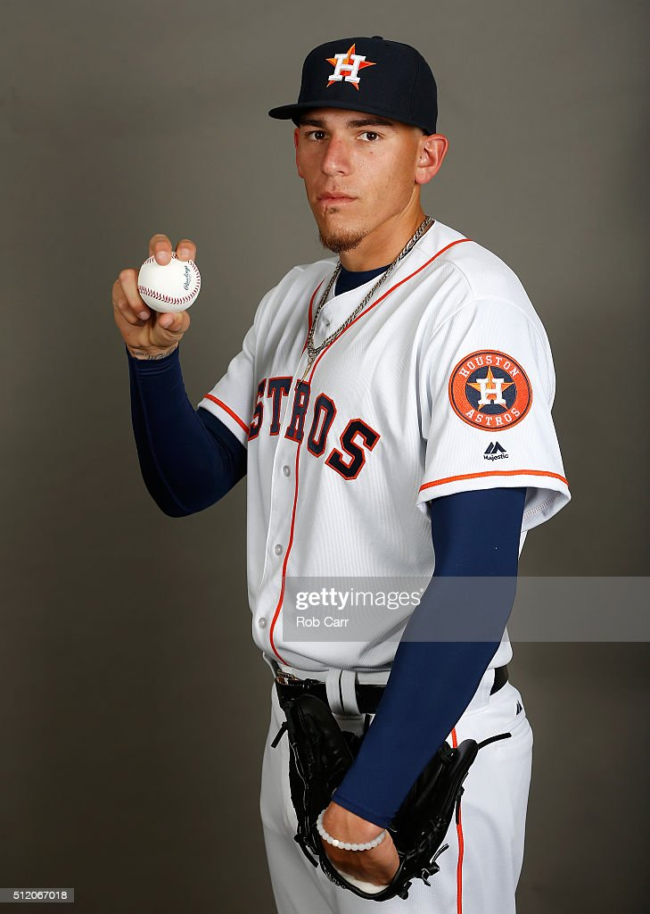 Joe Musgrove #68 of the Houston Astros poses on photo day at Osceola County Stadium on February 24, 2016 in Kissimmee, Florida.