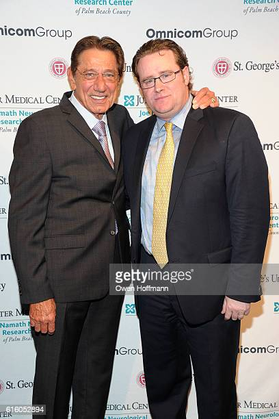 Joe Namath and Brian Crimmins attend An Evening Honoring Joe Namath at The Plaza Hotel on October 20 2016 in New York City