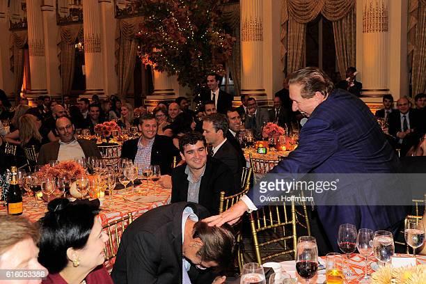 Joe Namath and John Schmitt attend An Evening Honoring Joe Namath at The Plaza Hotel on October 20 2016 in New York City