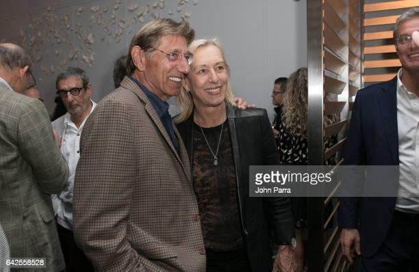 Joe Namath and Martina Navratilova attend the Art Wynwood Tony Goldman Lifetime Artistic Achievement Award Honoring Shepard Fairey at db Moderne...