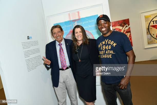 Joe Namath Dorothea Hurley and Cey Adams attend Art New York on May 3 2018 at Pier 94 in New York City