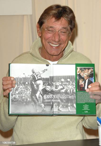 Joe Namath during Joe Namath InStore Appearance For His New Book Namath November 30 2006 at Barnes Noble 5th Avenue in New York City New York United...