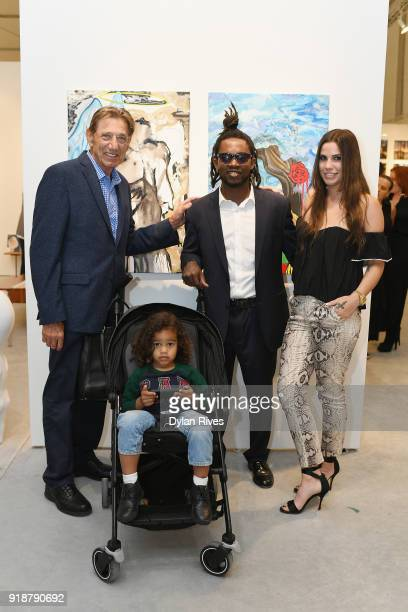 Joe Namath Edwin Baker and Olivia Namath attend the Art Wynwood VIP Opening Preview 2018 at The Art Wynwood Pavilion on February 15 2018 in Miami FL
