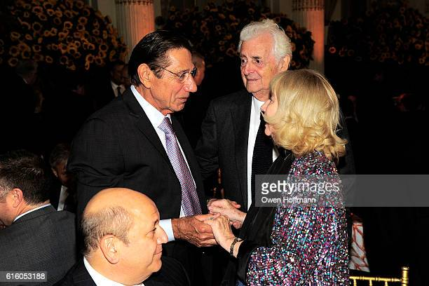 Joe Namath Gigi Benson and Harry Benson attend An Evening Honoring Joe Namath at The Plaza Hotel on October 20 2016 in New York City