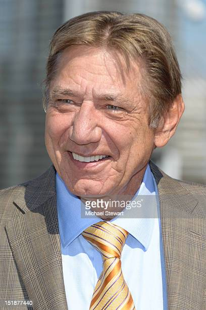 Joe Namath is honored by Gray Line New York's Ride of Fame campaign at Pier 78 on September 12 2012 in New York City