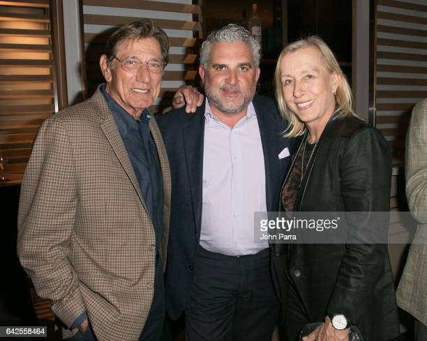 Joe Namath Nick Korniloff and Martina Navratilova attend the Art Wynwood Tony Goldman Lifetime Artistic Achievement Award Honoring Shepard Fairey at...