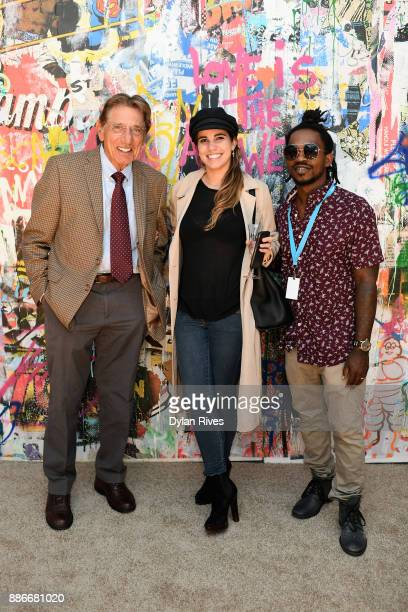 Joe Namath Olivia Namath and Edwin Baker III attend the Art Miami CONTEXT 2017 at Art Miami Pavilion on December 5 2017 in Miami Florida