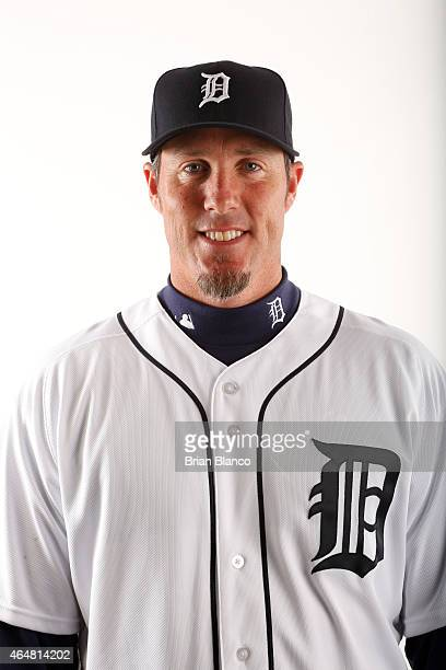 Joe Nathan of the Detroit Tigers poses for a photo during the Tigers' photo day on February 28 2015 at Joker Marchant Stadium in Lakeland Florida