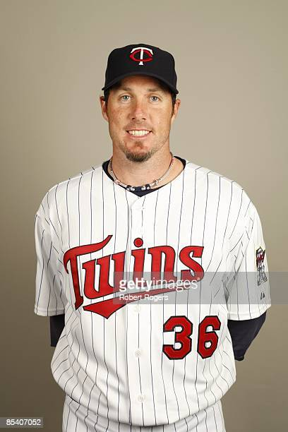 Joe Nathan of the Minnesota Twins poses during Photo Day on Monday February 23 2009 at Hammond Stadium in Fort Myers Florida