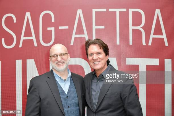Joe Neumaier and Rob Marshall attend SAGAFTRA Foundation's The Business presenting Rob Marshall at The Robin Williams Center on January 10 2019 in...