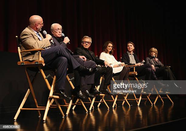 Joe Neumaier Michael Caine Harvey Keitel Rachel Weisz Paul Dano and Jane Fonda attends The Academy Of Motion Picture Arts And Sciences Hosts An...
