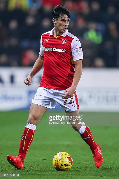 Joe Newell of Rotherham United during the Sky Bet Championship match between Rotherham United and Burton Albion at The New York Stadium on December...