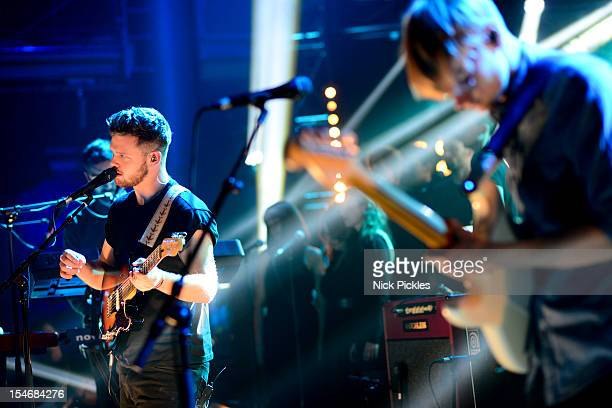 Joe Newman and Gwil Sainsbury of AltJ perform on stage for The Barclaycard Mercury Prize 'Albums of the Year Live' at LSO St Lukes on October 24 2012...