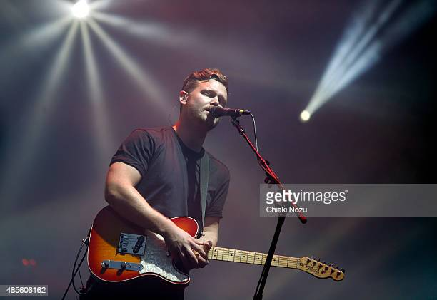 Joe Newman of Alt J performs on Day 1 of The Reading Festival at Richfield Avenue on August 28 2015 in Reading England