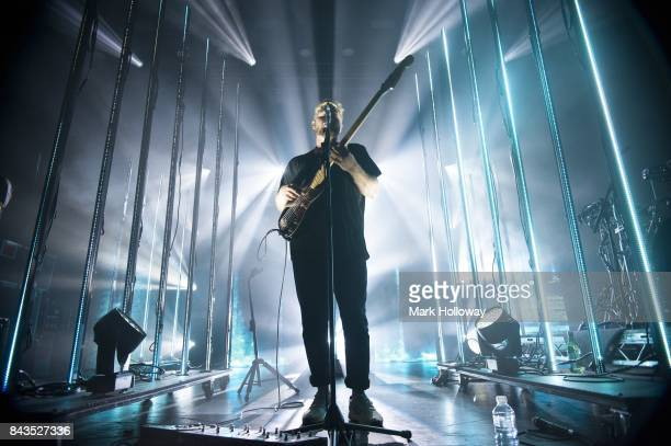Joe Newman of AltJ perform performing at O2 Academy Bournemouth on September 6 2017 in Bournemouth England