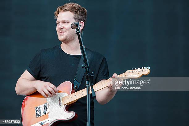Joe Newman of AltJ performs during 2015 Lollapalooza Brazil at Autodromo de Interlagos on March 28 2015 in Sao Paulo Brazil