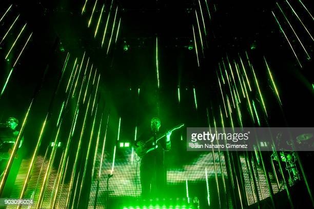 Joe Newman of AltJ performs in concert at WiZink Center on January 9 2018 in Madrid Spain