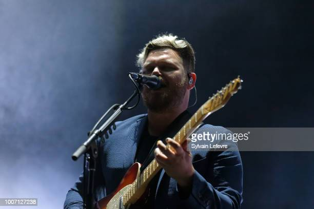 Joe Newman of altJ performs live on stage during Nuits Secretes Festival day 2 on July 28 2018 in AulnoyeAymeries France
