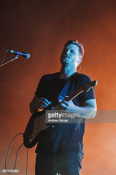 Joe Newman of AltJ performs on the main stage at Latitude Festival on July 17 2015 in Southwold United Kingdom