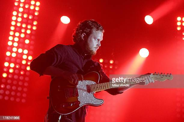 Joe Newman of the band AltJ performs onstage at The Hollywood Palladium on August 27 2013 in Los Angeles California