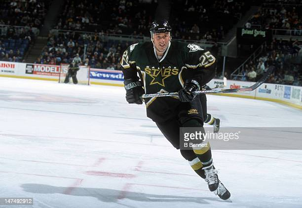 Joe Nieuwendyk of the Dallas Stars skates on the ice during an NHL game against the New York Islanders on December 21 2000 at the Nassau Coliseum in...