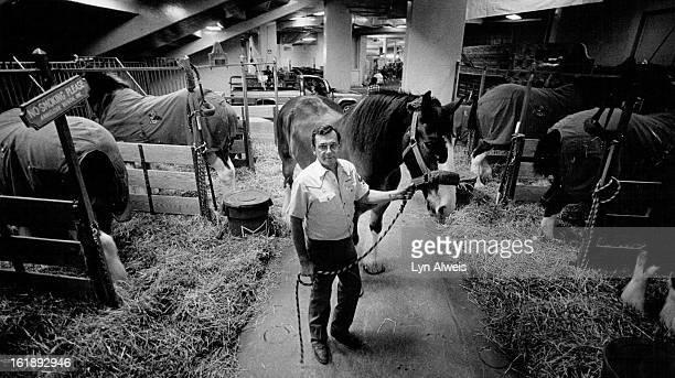 JAN 26 1987 Joe Ortega Budweiser Clydesdale Hitch