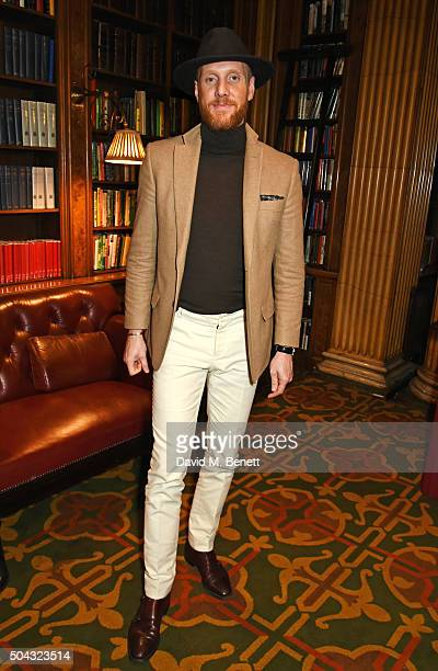 Joe Ottaway attends the Pringle Of Scotland Menswear Autumn/Winter 2016 show during London Collections Men on January 10 2016 in London England