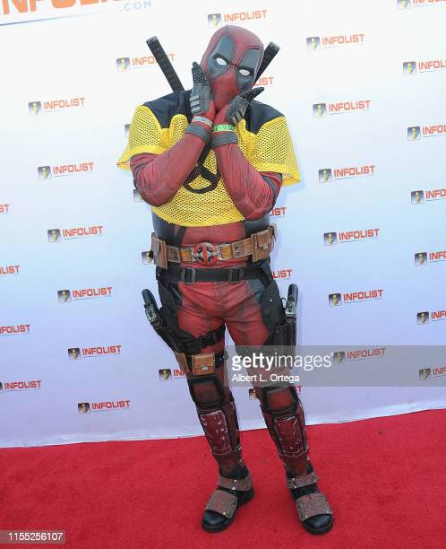 Joe Palone as Deadpool attends InfoListcom's PreComicCon Bash held at Wisdome Immersive Art Park on July 11 2019 in Los Angeles California