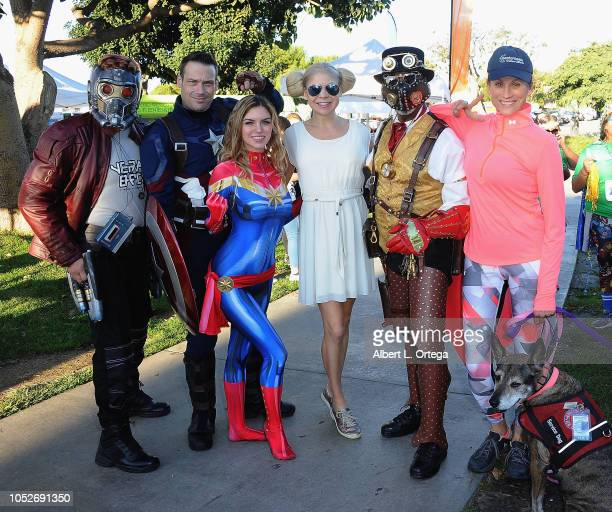 Joe Palone Jeff Knight Kirsten Armorheart Anne McDaniels Trace Davis and Nancy LaScala at Easter Seals Southern California's 'Strides For Disability...