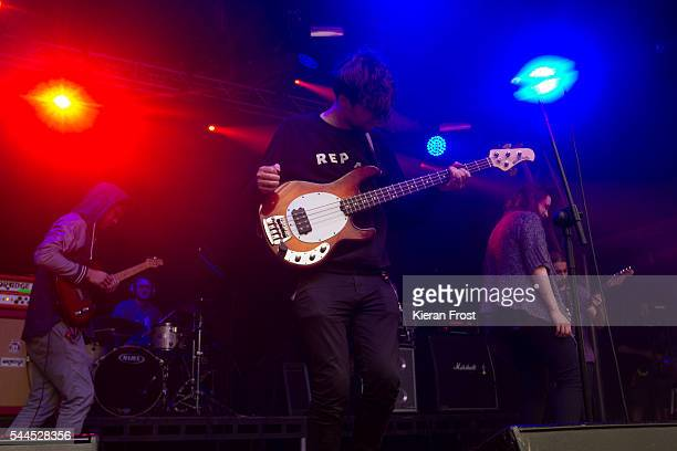 Joe Panama and Lia Wright of Overhead, The Albatross performs at CastlePalooza at Charville Castle on July 2, 2016 in Tullamore, Ireland.