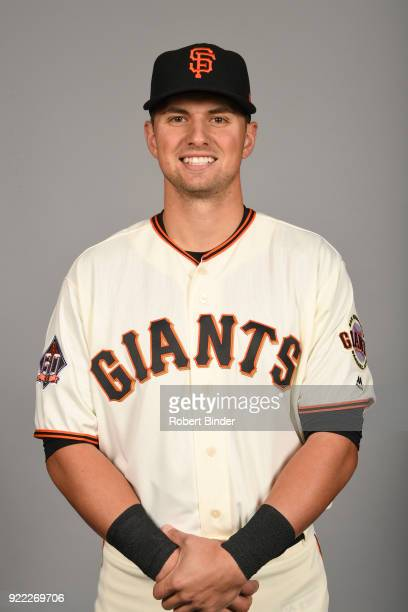 Joe Panik of the San Francisco Giants poses during Photo Day on Tuesday February 20 2018 at Scottsdale Stadium in Scottsdale Arizona
