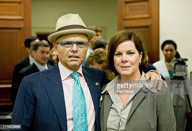 Joe Pantoliano actor and founder of No Kidding Me Too and actress Marcia Gay Harden arrive at a Stigma of Mental Illness among Veterans and Public...